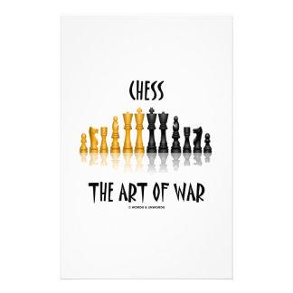 Chess The Art Of War (Matisse Font) Custom Stationery
