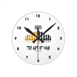 Chess The Art Of War (Matisse Font) Wallclocks