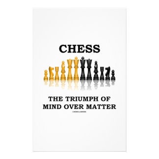 Chess The Triumph Of Mind Over Matter Personalized Stationery