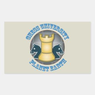 Chess University on Planet Earth Emblem Sticker