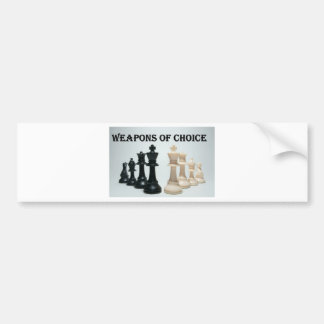 Chess - Weapons Of Choice Bumper Stickers