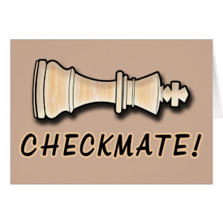 Chess Win Congratulations Checkmate Greeting Card