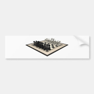 Chessboard and Chess Pieces: Bumper Sticker