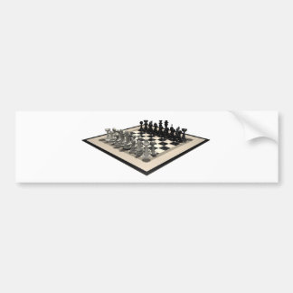 Chessboard and Chess Pieces Bumper Sticker