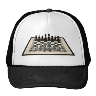 Chessboard and Chess Pieces: Trucker Hat