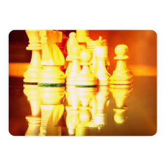 "Chessboard and Pieces 5"" X 7"" Invitation Card"