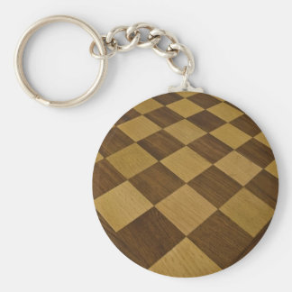 chessboard basic round button key ring