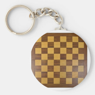 chessboard basic round button key ring