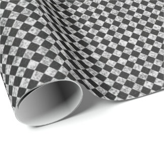 Chessboard Black  White Lines Chalkboard Lines Wrapping Paper