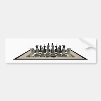 Chessboard & Chess Pieces: Car Bumper Sticker