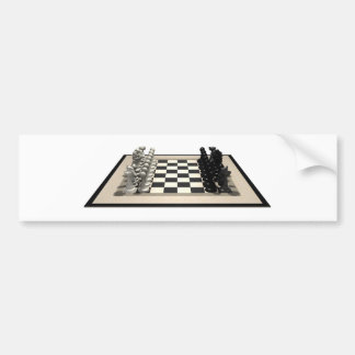 Chessboard & Chess Pieces: Bumper Stickers