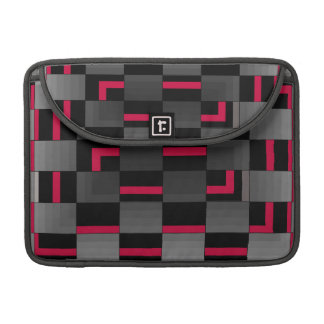 Chessboard Neon Red City Urban Design Sleeve For MacBooks