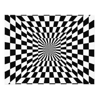 Chessboard optical illusion 21.5 cm x 28 cm flyer