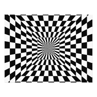 Chessboard optical illusion full color flyer