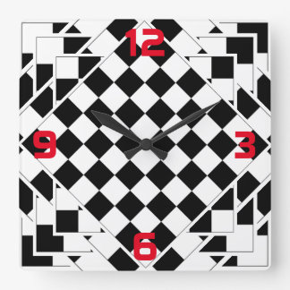 chessboard square wall clock
