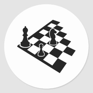 Chessboard Round Stickers