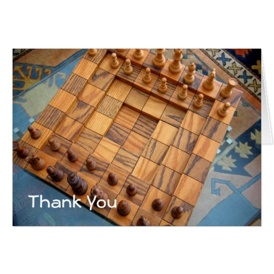 Chessboard Thank you card