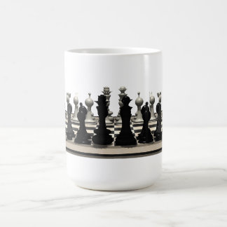 Chessboard with Chess Pieces: Coffee Mug