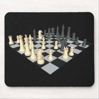 Chessboard with Chess Pieces - Custom Mousepad