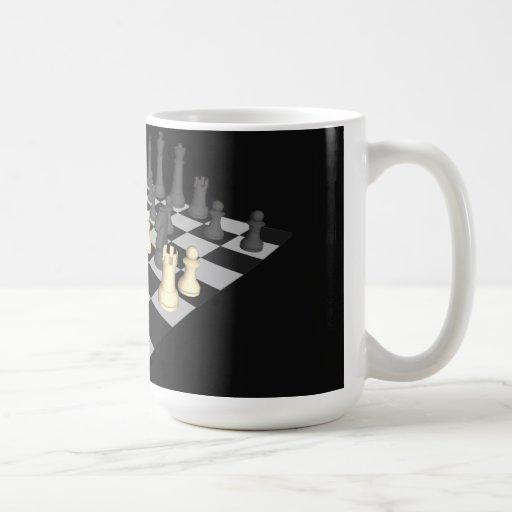 Chessboard with Chess Pieces - Custom Mug