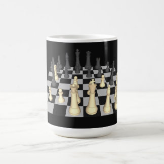 Chessboard with Chess Pieces - Custom Mug