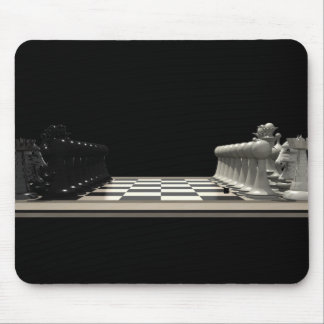 Chessboard with Chess Pieces: Mousepad