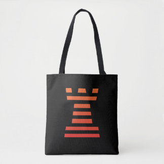 ChessME Black And Orange All-Over-Print Tote Bag