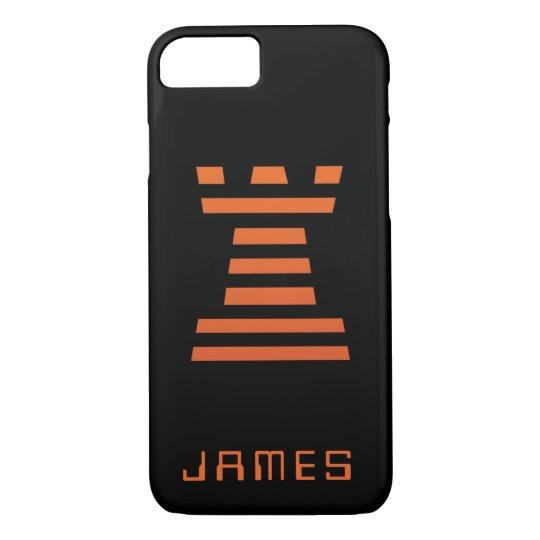 ChessME iPhone Add Name Black Orange iPhone 8/7 Case