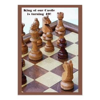 Chessmen Birthday Party Invitation