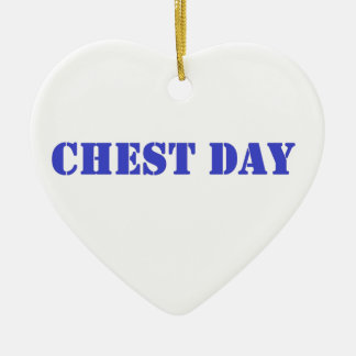 chest day blue christmas tree ornament
