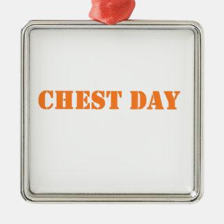 chest day orange christmas ornaments