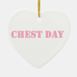 chest day pink christmas ornament