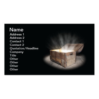 Chest of treasure Double-Sided standard business cards (Pack of 100)