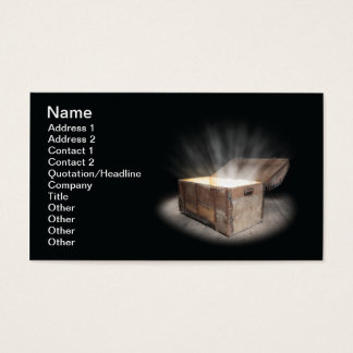 Chest of treasure business card