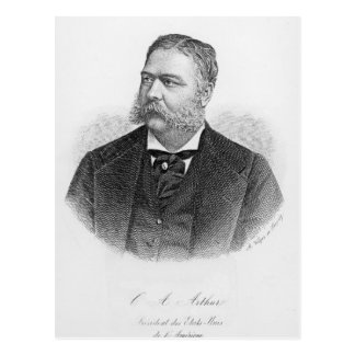 Chester Alan Arthur , engraved by A. Weger Postcard