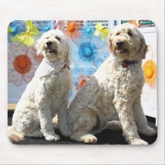 Chester and Lilly - GoldenDoodle -7 Mouse Pad