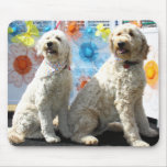 Chester and Lilly - GoldenDoodle -7 Mousemat