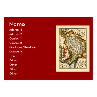 """Chester"" Cheshire, County Map, England Pack Of Chubby Business Cards"