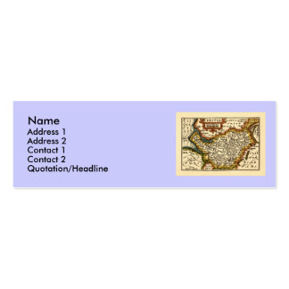 """Chester"" Cheshire, County Map, England Pack Of Skinny Business Cards"