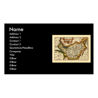 """""""Chester"""" Cheshire, County Map, England Pack Of Standard Business Cards"""