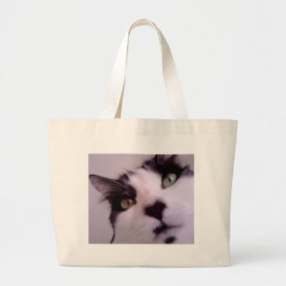 Chester the cat close up jumbo tote bag