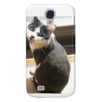 Chester the cat_sitting at the door galaxy s4 case
