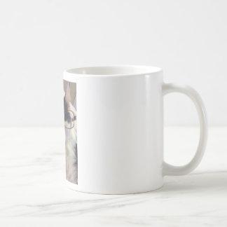 Chester the cat wearing glasses basic white mug