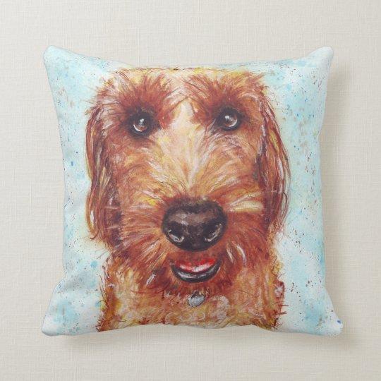 Chester the Jackapoo Watercolour Cushion