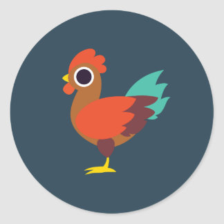 Chester the Rooster Round Sticker