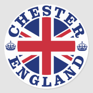 Chester Vintage UK Design Classic Round Sticker
