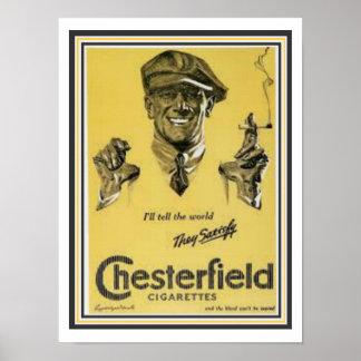 Chesterfield Cigarette Ad Poster 12 x 16