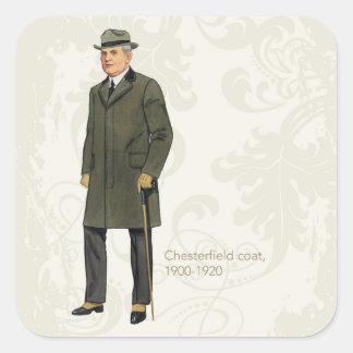 Chesterfield Coat Square Sticker