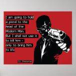 Chesterton Modern Man Poster