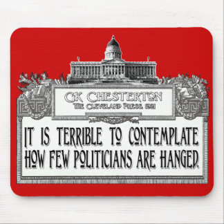 Chesterton on Politicians' Hanging Mouse Pad